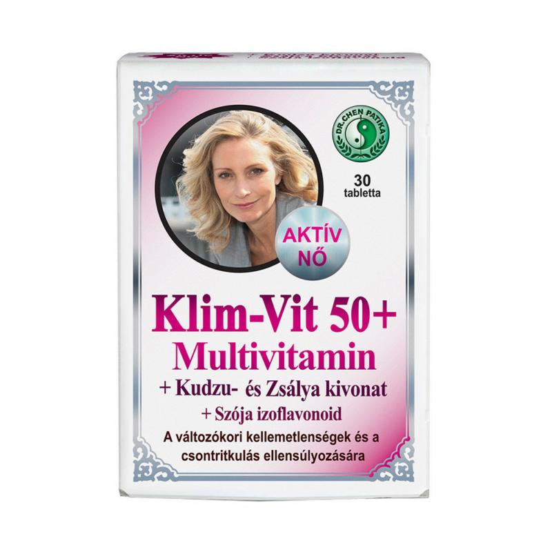 Dr.Chen Klim-Vit 50+ Multivitamin kapszula Nőknek 30x