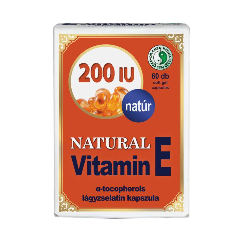Dr.Chen Natural vitamin E 200 lágyzselatin kapszula 60x