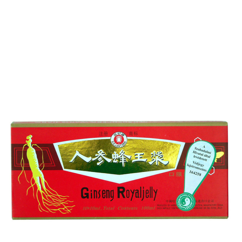 Dr.Chen Ginseng Royal Jelly ampulla piros fekete 10x10ml