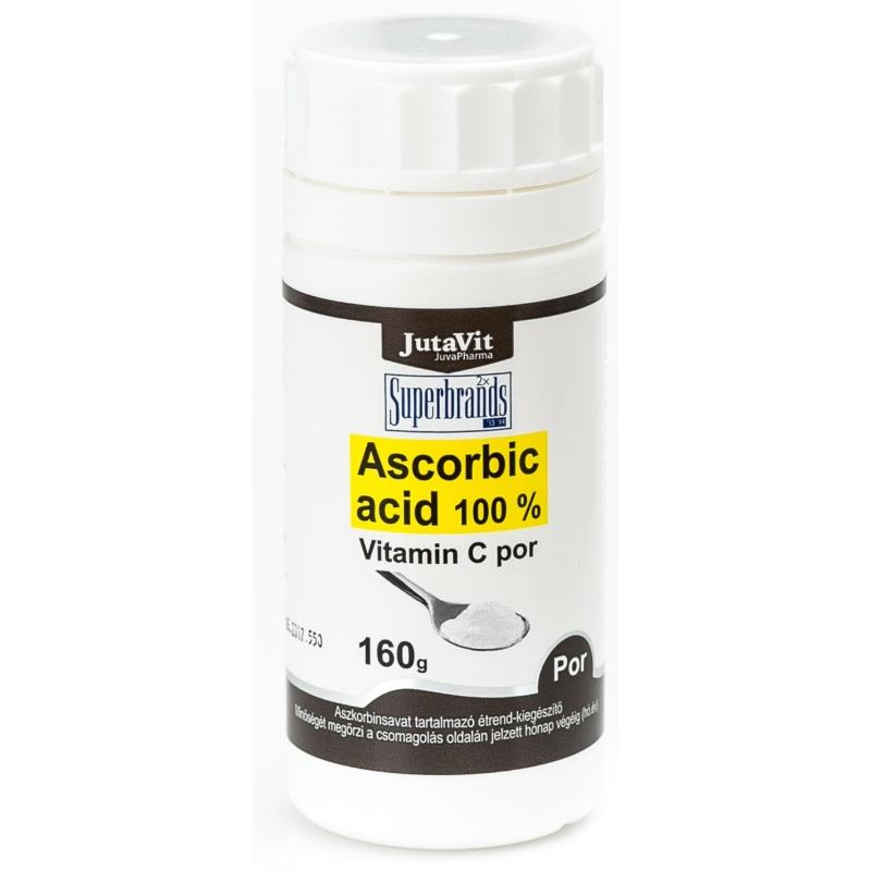 Jutavit Ascorbic acid Vitamin C por 160g