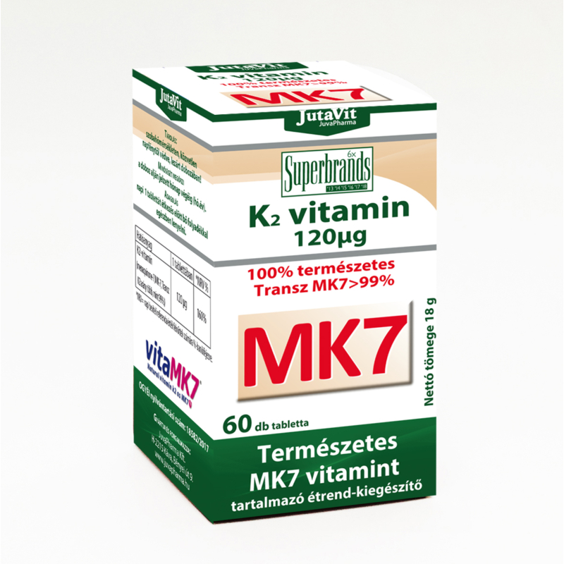 Jutavit K2 vitamin 120mg tabletta 60x