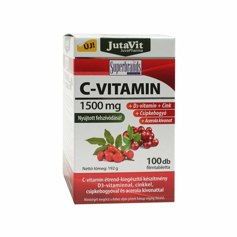 Jutavit C-vitamin 1500mg csipkebogyó acerola D3 tabletta 100x