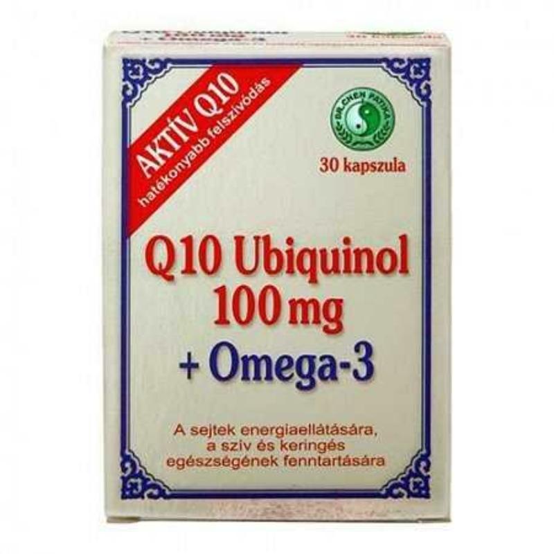 Dr.Chen Q10 Ubiquinol 100mg+Omega3 kapszula 30x