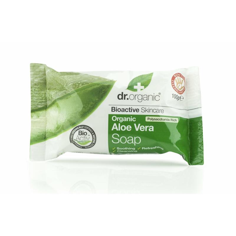 Dr. Organic Szappan Bio Aloe verával • 100 g
