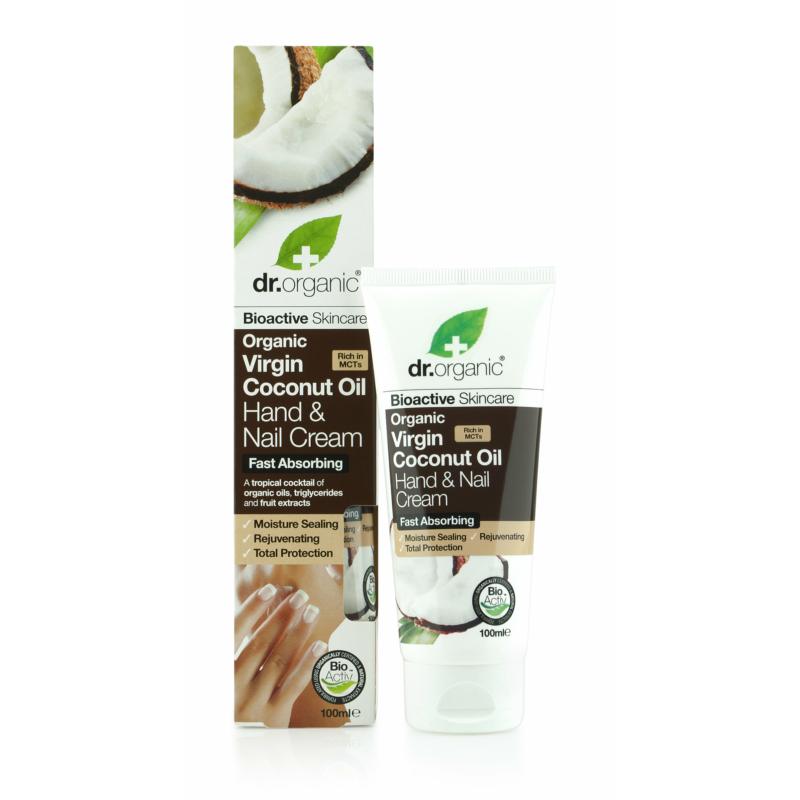 Dr. Organic Kéz-és körömápoló Bio szűz kókuszolajjal • 100 ml