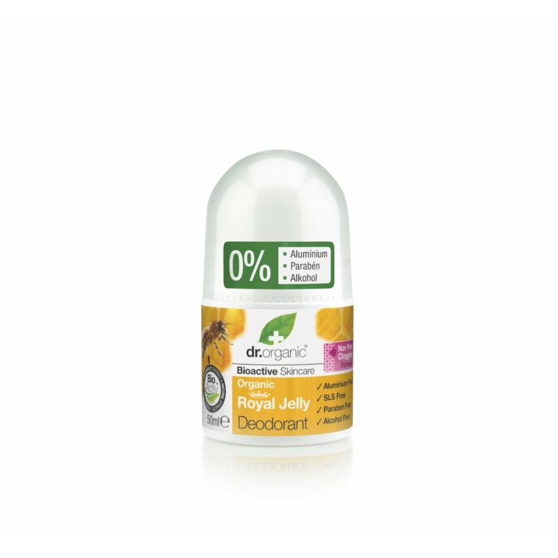 Dr. Organic Alumíniummentes golyós dezodor bioaktív méhpempővel • 50ml