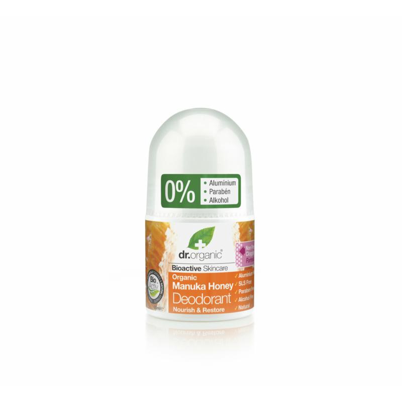 Dr. Organic Golyós dezodor Bio manuka mézzel • 50 ml