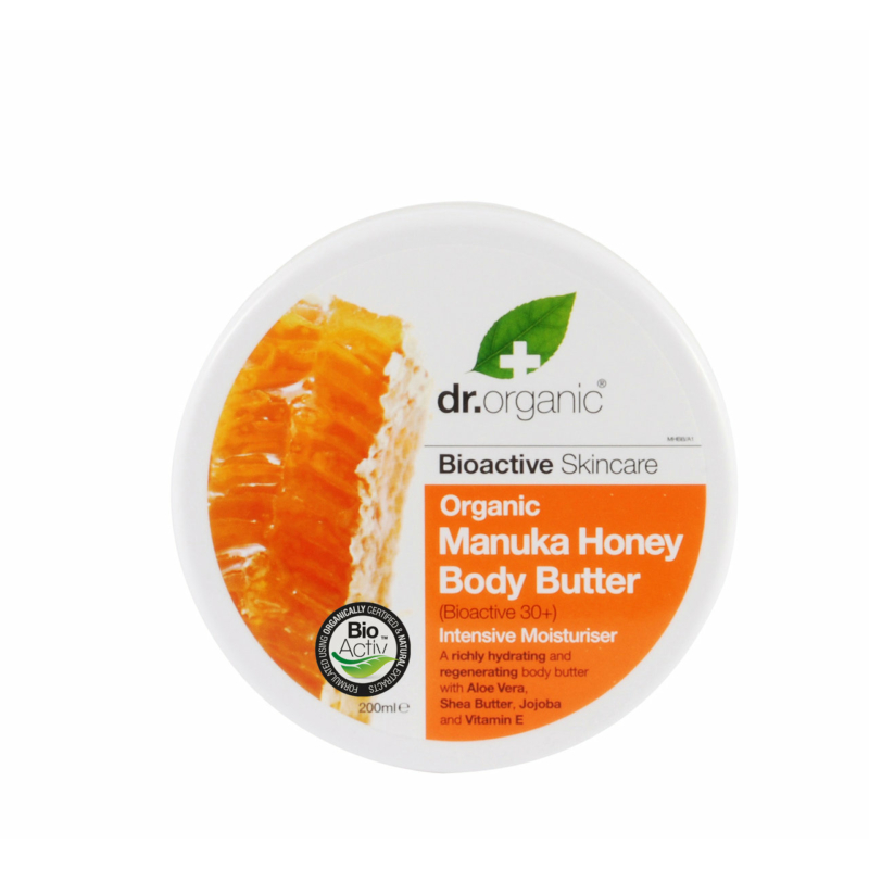 Dr. Organic Testápoló vaj Bio manuka mézzel • 200 ml