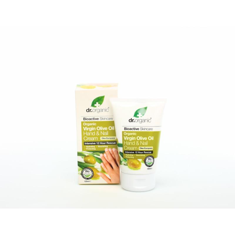 Dr. Organic Kéz- és körömápoló krém Bio olívával • 125 ml