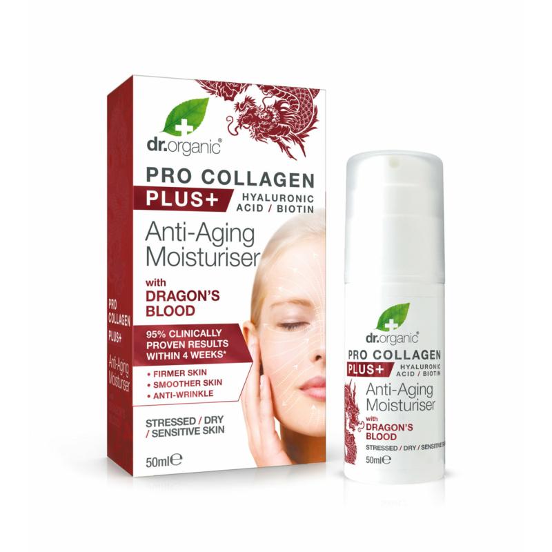 Dr.Organic Pro Collagen Anti-Aging hidratáló arckrém sárkányvérfa kivonattal • 50ml