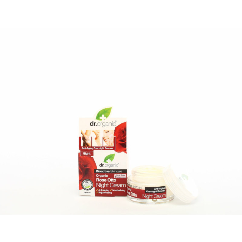 Dr. Organic Éjszakai krém Bio damaszkuszi rózsával • 50 ml