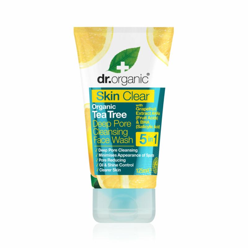 Dr. Organic Skin Clear Mélytisztító arclemosó 5 az 1-ben • 125 ml