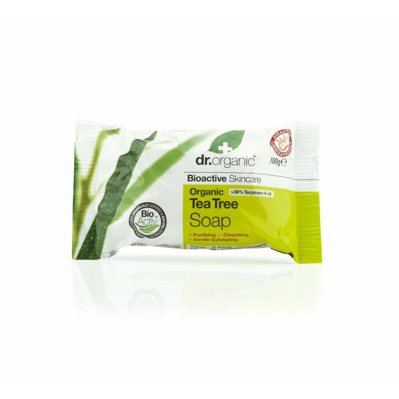 Dr. Organic Szappan Bio teafával • 100 g