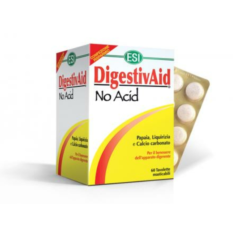 ESI® No Acid Nagy, 60 darabos kiszerelés - Természetes savlekötő, lúgosító. Gyomorégés, puffadás. 60x