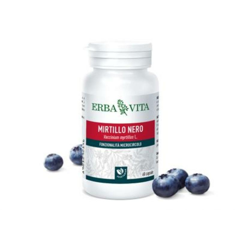 ErbaVita® Fekete áfonya kapszula Inulinnal - Növényi inzulin, véd a cukorbetegség alattomos szövődményeitől.