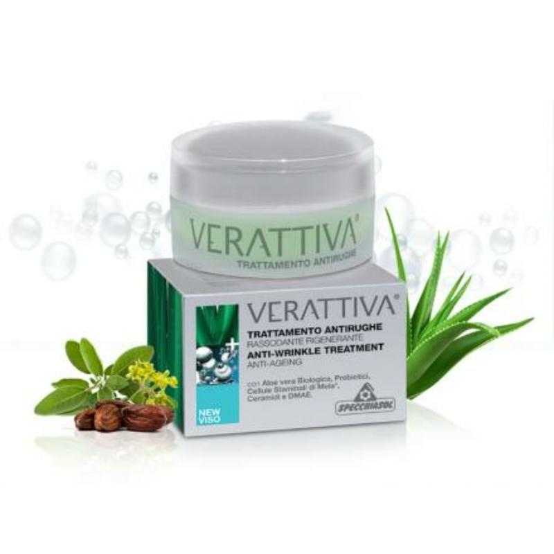 Specchiasol® Verattiva® Baktériumos, Öregedés elleni regeneráló ránc-kisimító kezelés - Bőrgyógyászatilag tesztelt összetétel!