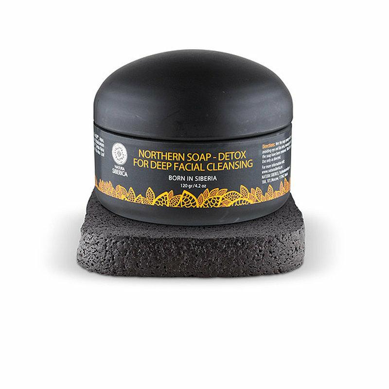 Natura Siberica Mélytisztító arclemosó szappan aktív szénnel • 120ml