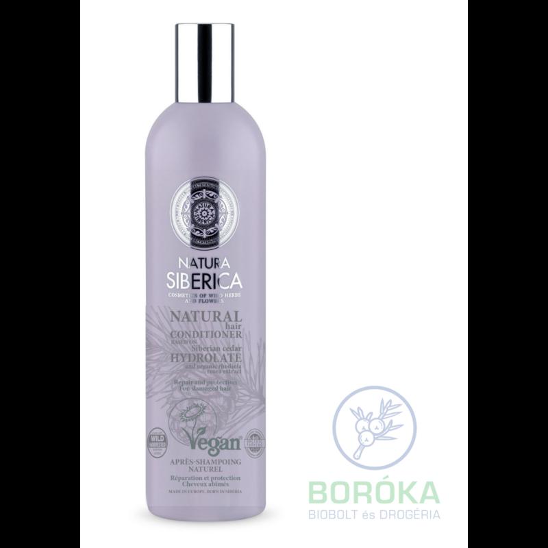 Natura Siberica Virágvízalapú regeneráló és védő bio hajbalzsam igénybevett hajra • 400ml