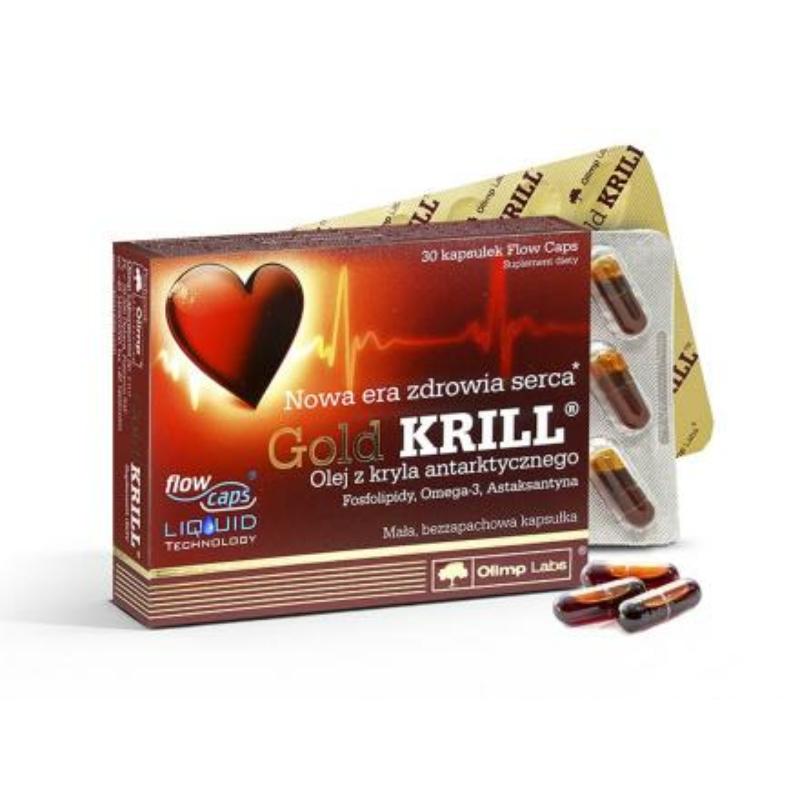 Olimp Labs® Gold Krill olaj - Standardizált, szagtalan, adalékanyag-mentes, szabadalmazott FlowCaps™tokban.