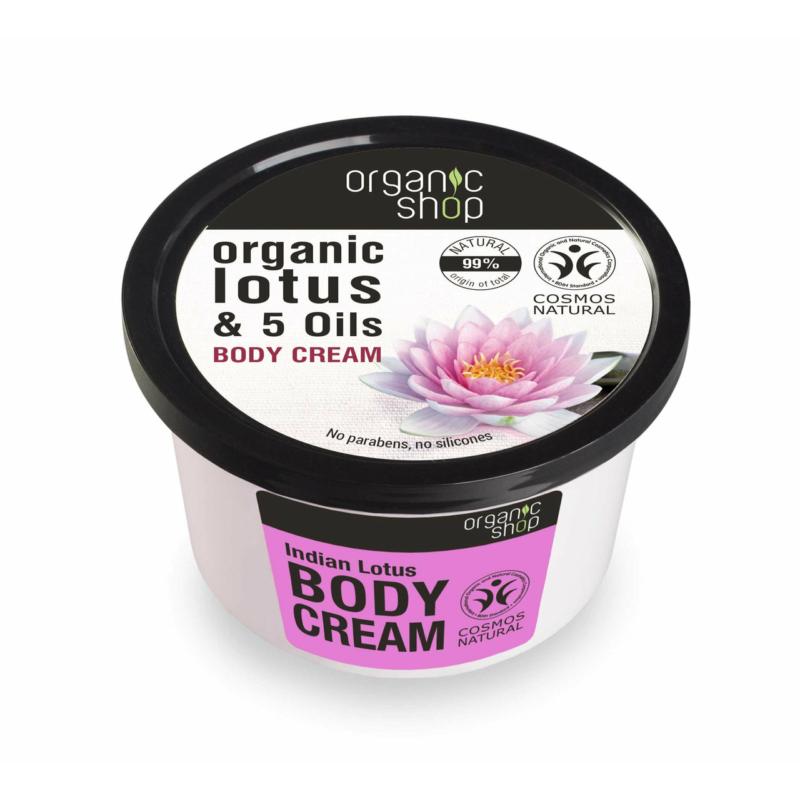 """Organic Shop Testápoló krém """"Indiai lótusz"""""""
