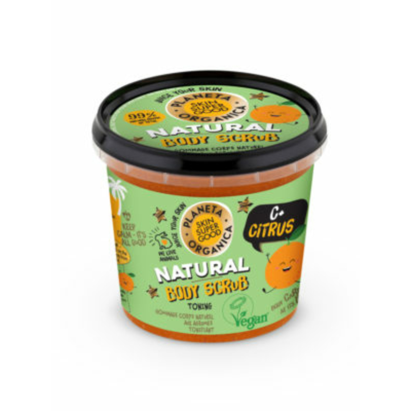 Skin Super Good Természetes testradír citrusokkal és C-vitaminnal 360 ml